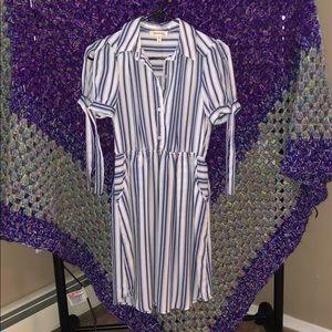Monteau Blue& White striped dress - Size Small